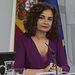 La portavoz del Gobierno y ministra de Hacienda, María Jesús Montero, durante su intervención en la rueda de prensa posterior al Consejo de Ministros. Foto: Pool Moncloa www.lamoncloa.gob.es