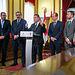 El presidente de Castilla-La Mancha, Emiliano García-Page, realiza una visita institucional al Ayuntamiento de Guadalajara y mantiene una reunión de trabajo con el equipo de Gobierno local. (Fotos: A. Pérez Herrera // JCCM).