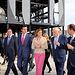 La presidenta Cospedal y ministro Soria durante la visita que han realizado a Kurata Sistems. Foto: JCCM