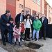 Colocación de la primera piedra de las obras de ampliación del colegio de Educación Infantil y Primaria 'Santísimo Cristo de la Sala' en la localidad de Bargas