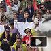 Nacho Hernando, portavoz del Gobierno Regional, en la manifestación del 1º de Mayo en Albacete.