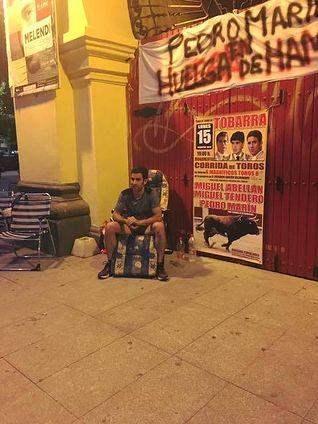 Pedro Marín durante la huelga de hambre.