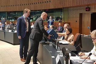La ministra de Trabajo, Migraciones y Seguridad Social en funciones, Magdalena Valerio, ha intervenido hoy en el Consejo Europeo de Empleo, Política Social y Consumidores (EPSSCO), que se ha celebrado en Luxemburgo.