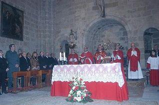 Acudió a la Misa oficiada por el obispo, Atilano Rodríguez