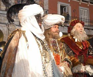 Melchor, Gaspar y Baltasar, los Reyes Magos de Oriente