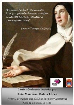 """Charla  """"Santa Teresa de Jesús, una mujer avanzada a su tiempo"""""""