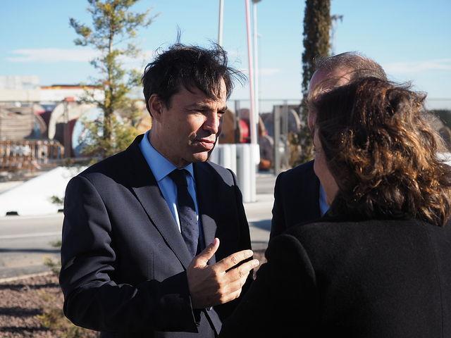 El presidente de Castilla-La Mancha, Emiliano García-Page, inaugura la nueva sede de la empresa Eiffage Energía.