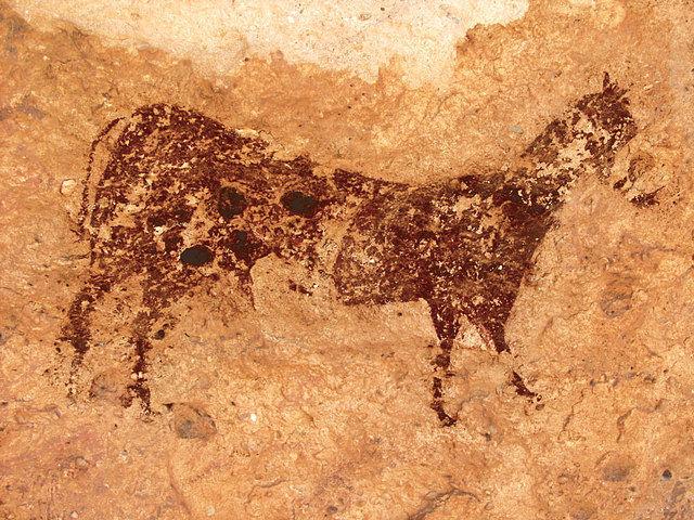 Imagen de un caballo en el Abrigo Grande de Minateda.