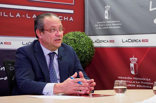 Juan Alfonso Ruiz Molina, consejero de Hacienda y Administraciones Públicas de la Junta de Comunidades de Castilla-La Mancha. Foto: Manuel Lozano García / La Cerca