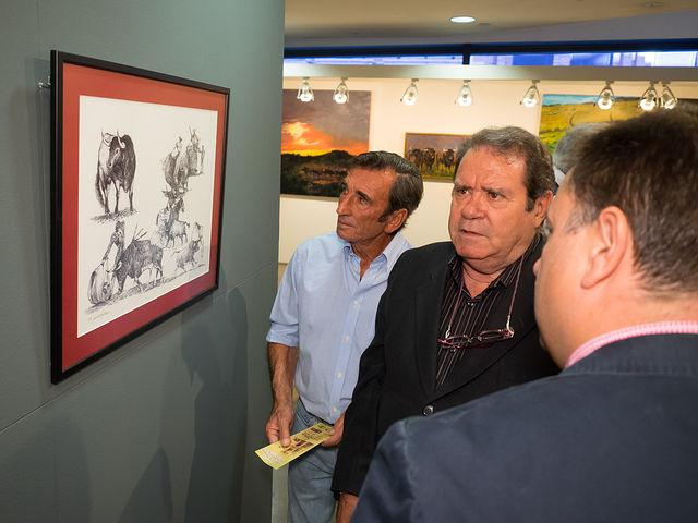 Inauguración de las exposiciones con motivo del I Centenario de la Plaza de Toros de Albacete de Antonio Saiz y Juan Miguel Rodríguez