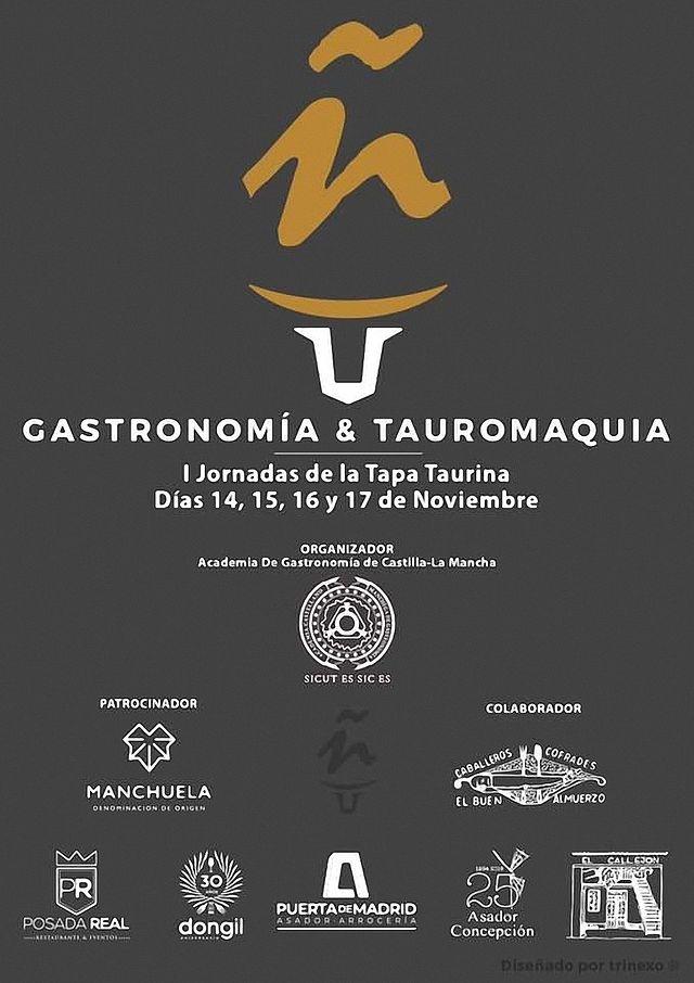 Cartel I Jornadas de la Tapa Taurina.