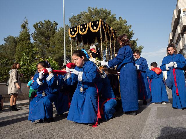 """Procesión \""""Dejad que los niños se acerquen a mi\"""" en el Lunes Santo de la Semana Santa de Albacete"""