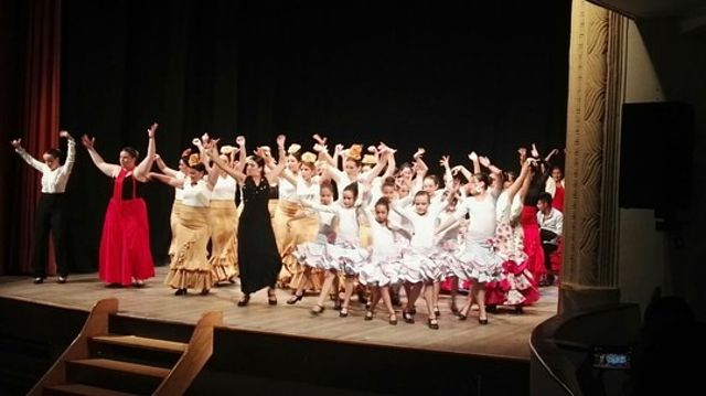 Gimnasio Olimpo y Esencia Gitana bailan por AFANION.