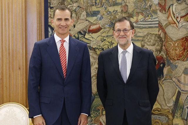Su Majestad el Rey Felipe VI y el presidente del Gobierno Mariano Rajoy.