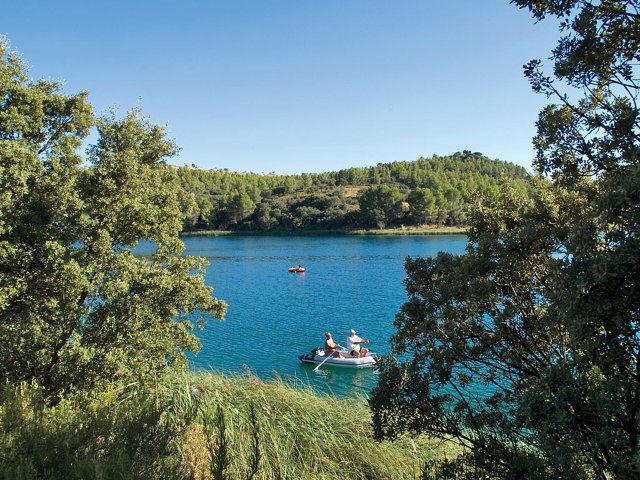 Lagunas de Ruidera, entre las provincias de Albacete y Ciudad Real.