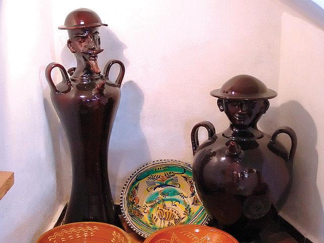 Don Quijote y Sancho también están representados en el Museo de Cerámica de una manera muy original.