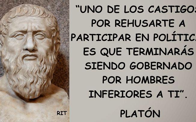 Platón, filósofo griego.