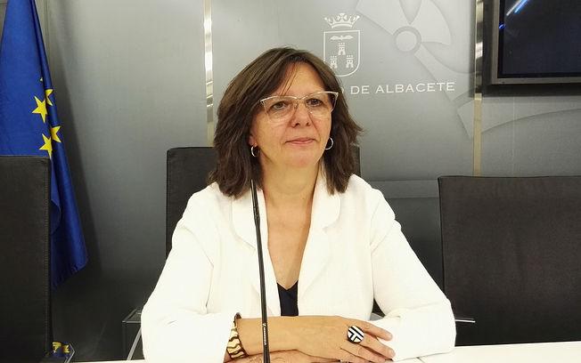 Victoria Delicado portavoz de Ganemos Albacete.