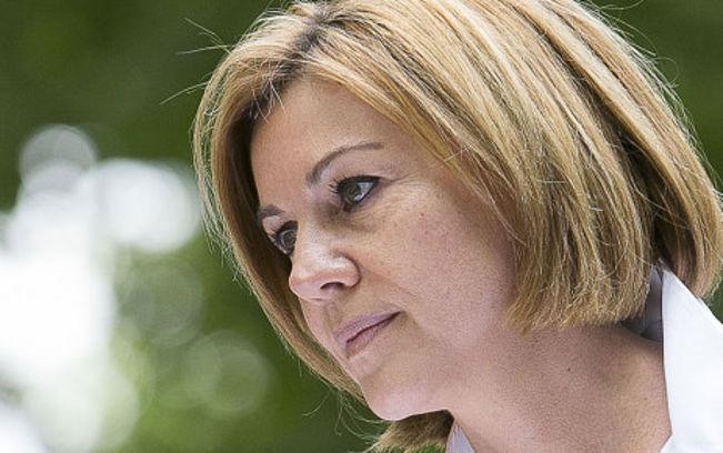 La secretaria general del PP y ministra de Defensa de España, María Dolores Cospedal