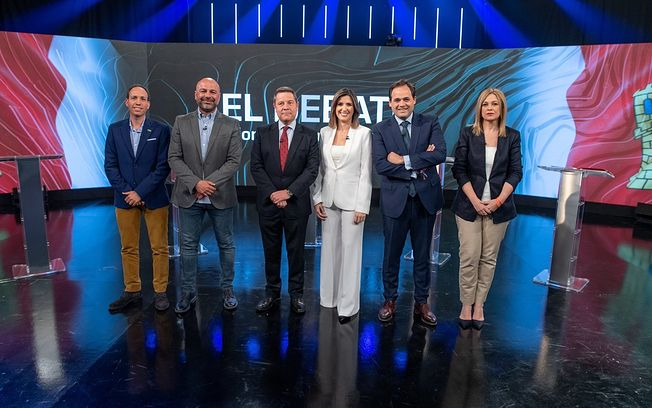 Debate electoral CMMedia. Foto: @cmm_es