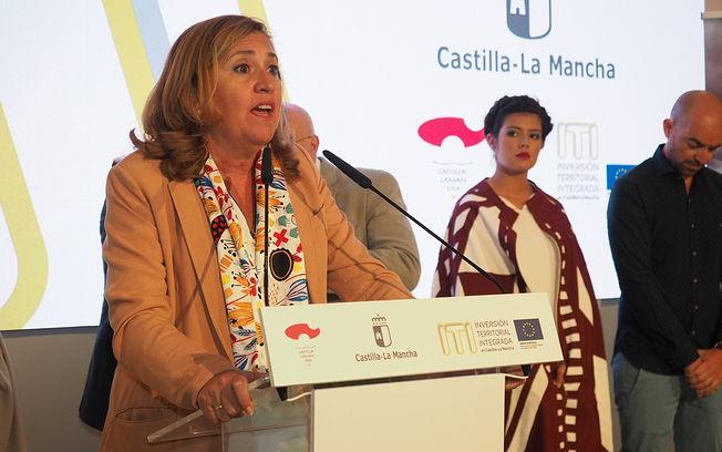 Presentación del Proyecto ITI de Lezuza en el stand de la JCCM de la Feria de Albacete. Foto: La Cerca - Manuel Lozano Garcia