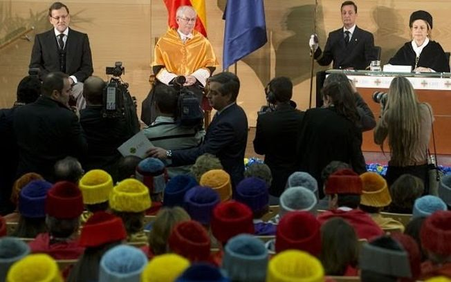 Rajoy elogia los méritos y la contribución de Van Rompuy a la construcción europea